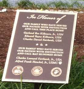 Plaque for memorial circle