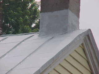 Example of a traditional roof panel with horizontal seams