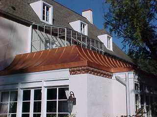 Copper Roof Restored With Liquid Reinforced Coating Roof